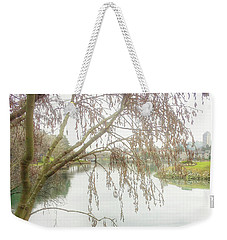 Weekender Tote Bag featuring the photograph Winter's  End  by Connie Handscomb
