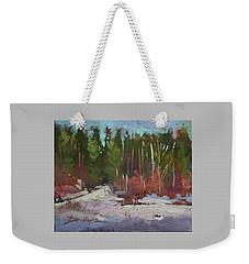 Winter's Eve Weekender Tote Bag