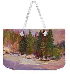 Winter's Eve Plein Air Weekender Tote Bag