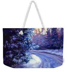 Winter's Exodus Weekender Tote Bag