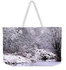 Winters First Icy Breath Weekender Tote Bag