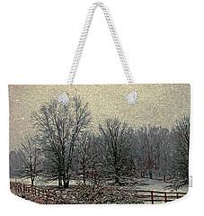 Winter's First Snowfall Weekender Tote Bag