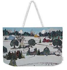 Winters Last Snow Weekender Tote Bag