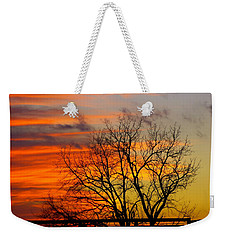 Winter's Scene Weekender Tote Bag by Donald C Morgan
