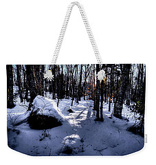 Weekender Tote Bag featuring the photograph Winters Shadows by David Patterson