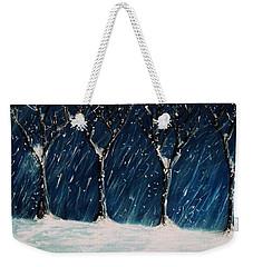 Winter's Snow Weekender Tote Bag