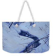Winter's Stream Weekender Tote Bag