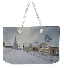 Winter's Way Weekender Tote Bag