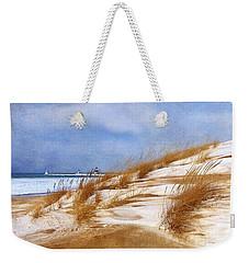 Wintertime St. Joe Lighthouse  Weekender Tote Bag