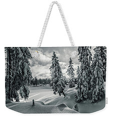 Winter Wonderland Harz In Monochrome Weekender Tote Bag