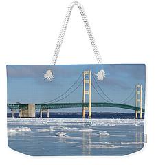Wintery Bridge Weekender Tote Bag
