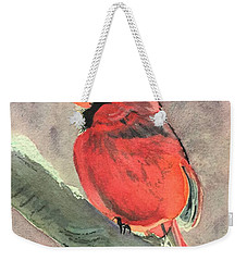 Wintery Red Weekender Tote Bag