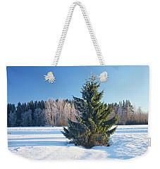 Wintry Fir Tree Weekender Tote Bag