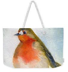 Wintry Weekender Tote Bag by Nancy Moniz