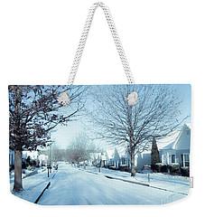 Wintry Snow Fall - Georgia Weekender Tote Bag