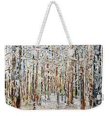 Wintry Woods Weekender Tote Bag