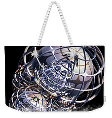 Weekender Tote Bag featuring the digital art Wire Frame Fractal by Melissa Messick