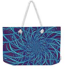 Wired In Blue Weekender Tote Bag
