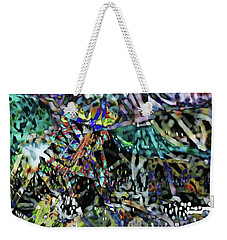 Weekender Tote Bag featuring the photograph Wired by Kathy Bassett
