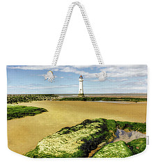 Wirral Lighthouse Weekender Tote Bag by Ian Mitchell