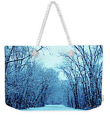 Wisconsin Frosty Road In Winter Ice Weekender Tote Bag
