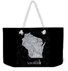 Wisconsin Map Music Notes 2 Weekender Tote Bag