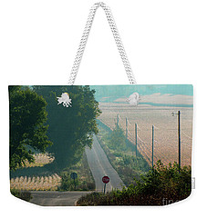 Wisconsin Rolling Hill Farmland Stop Sign Weekender Tote Bag