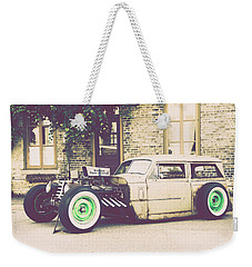 Weekender Tote Bag featuring the photograph Wisconsin State Journal Ratrod by Joel Witmeyer