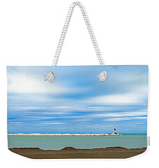 Weekender Tote Bag featuring the photograph Wisconsin Winter Lakefront by Steven Santamour