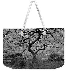 Weekender Tote Bag featuring the photograph Wisdom Bw by Jonathan Davison