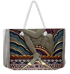 Wisdom Lords Over Rockefeller Center Weekender Tote Bag