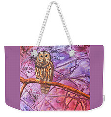 Wise One Weekender Tote Bag by Nancy Jolley
