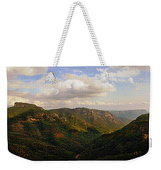 Weekender Tote Bag featuring the photograph Wiseman's View by Jessica Brawley