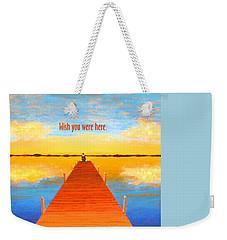 Wish - Pier - Greeting Card Weekender Tote Bag