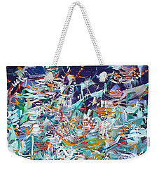 Weekender Tote Bag featuring the painting Wishes by Fabrizio Cassetta