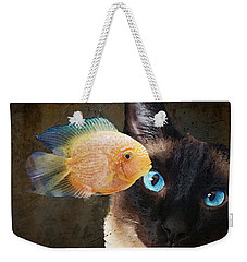 Wishful Thinking 2 - Siamese Cat Art - Sharon Cummings Weekender Tote Bag