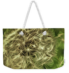 Weekender Tote Bag featuring the mixed media Wishies by Trish Tritz
