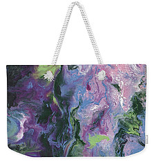 Weekender Tote Bag featuring the painting Wisteria Abstract by Jamie Frier