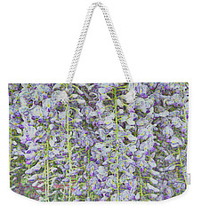 Weekender Tote Bag featuring the photograph Wisteria Before The Hail by Nareeta Martin