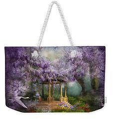 Wisteria Lake Weekender Tote Bag by Carol Cavalaris