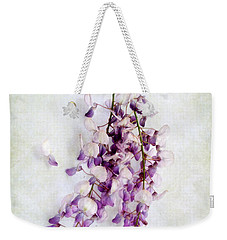 Weekender Tote Bag featuring the photograph Wisteria Still Life by Louise Kumpf
