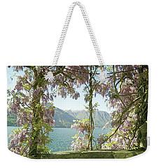 Wisteria Trellis Lago Di Como Weekender Tote Bag by Brooke T Ryan