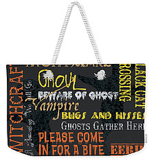 Witchcraft Typography Weekender Tote Bag by Debbie DeWitt