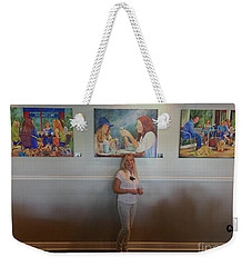 With 3 Paintings Weekender Tote Bag