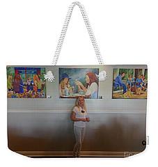 With 3 Paintings Weekender Tote Bag