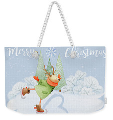 With All My Heart - Christmas Art Weekender Tote Bag
