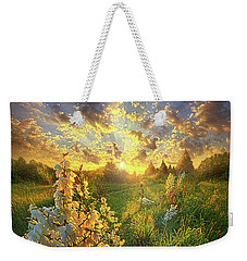 With An Angel By My Side Weekender Tote Bag