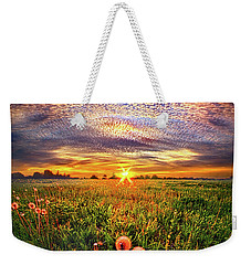 Weekender Tote Bag featuring the photograph With Gratitude by Phil Koch