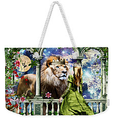 Weekender Tote Bag featuring the digital art With Him I Speak Face To Face by Dolores Develde