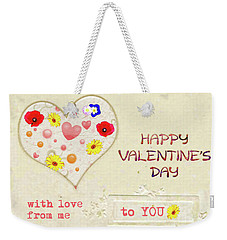 With Love From Me To You Weekender Tote Bag